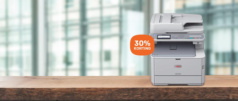 30% korting op OKI printers