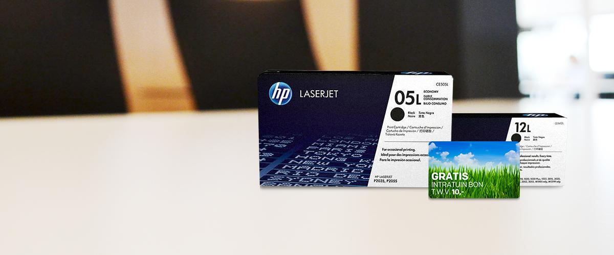 Tuinbon cadeau bij aankoop van HP Economy Tonercartridges