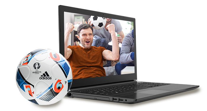 Scoor een EK-voetbal bij een Toshiba laptop