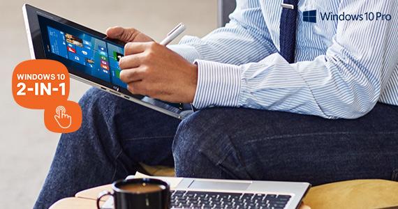 Top tien 2-in-1 notebooks met Windows 10 van Centralpoint.nl