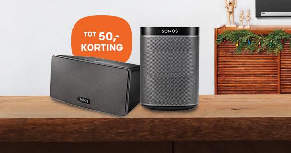 50,- korting op Sonos PLAY Speakers