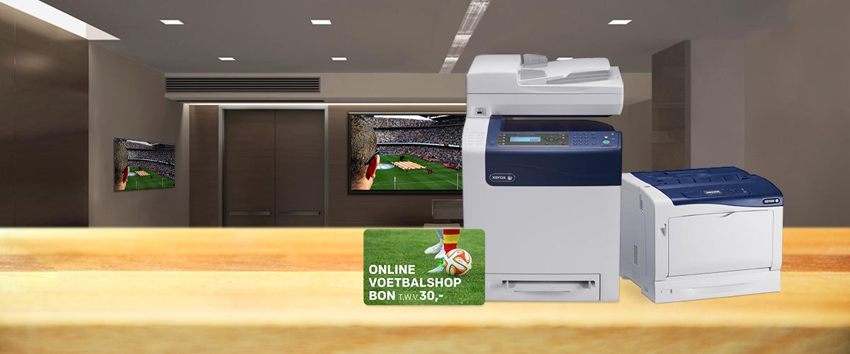 Xerox printers met 15% korting + GRATIS online voetbalbon