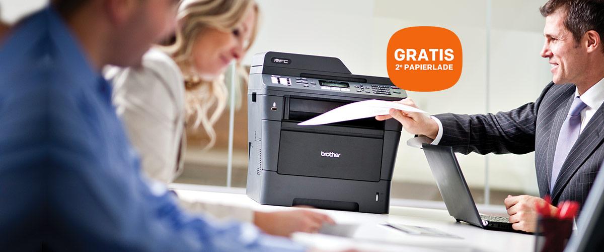 GRATIS tweede papierlade bij Brother printers