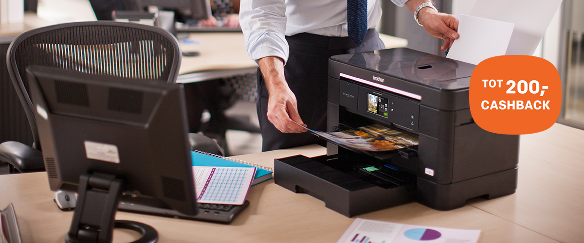 Tot 200,- cashback op Brother printers