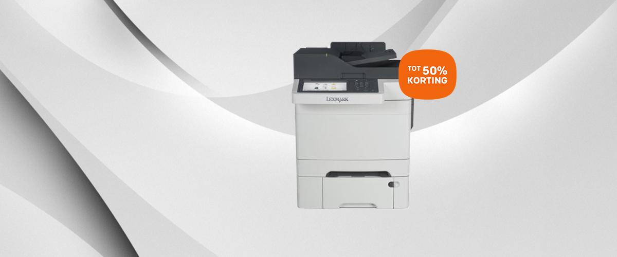 Tot 50% korting op Lexmark printers en multifunctionals