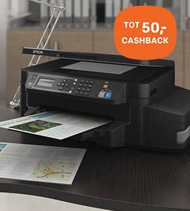 Cashback op Epson printers