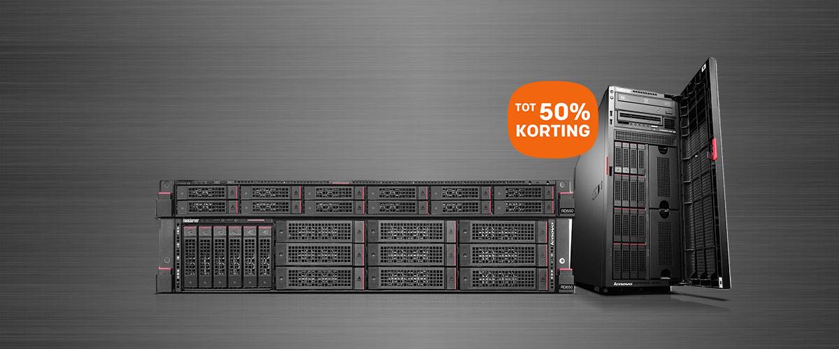 Tot 50% korting op Lenovo ThinkServer modellen