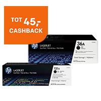 Tot 45,- cashback op HP Toners