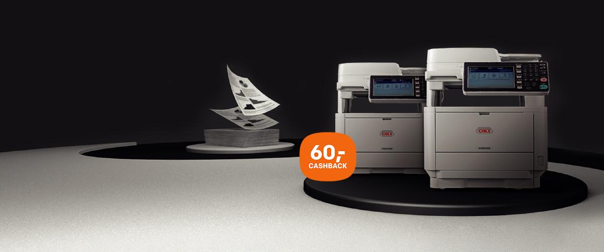 60,- cashback op OKI MFP printers