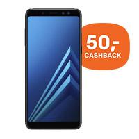 50,- cashback op de Samsung Galaxy A8 (2018)
