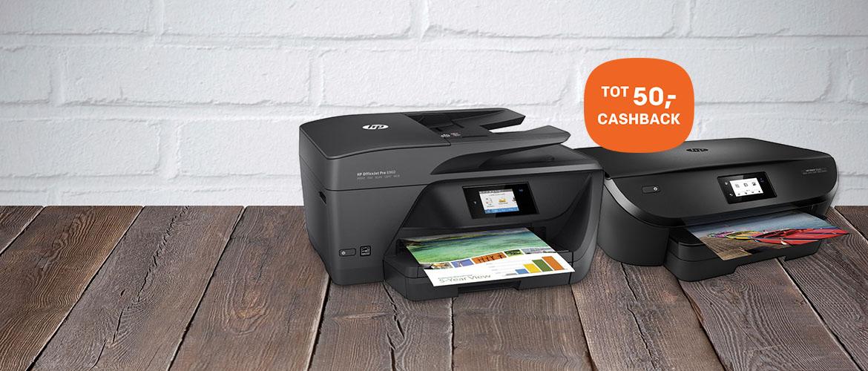 Tot 50,- cashback op diverse HP printers