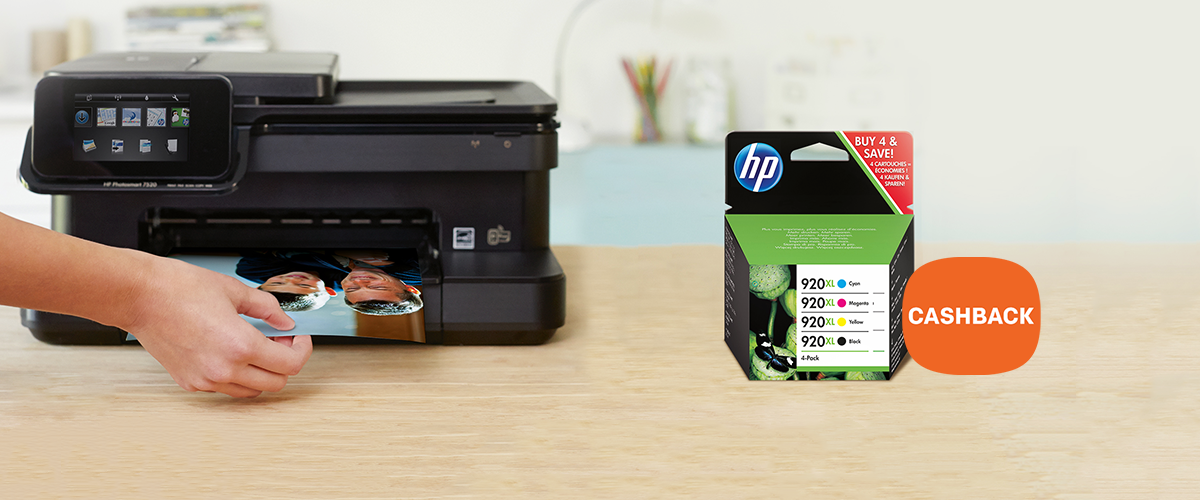 Cashback op HP inkt cartridges multipacks