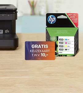 Cadeaukaart t.w.v. 10,- bij elke HP inkt multipack!