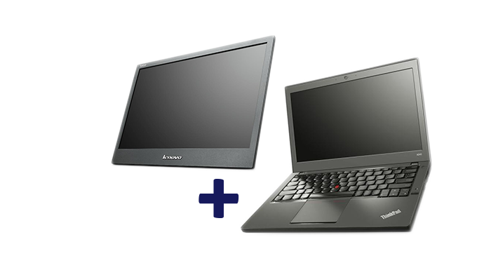 GRATIS draagbare monitor bij diverse Lenovo ThinkPads