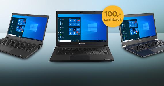 Nu 100,- cashback op dynabook Portégé en Tecra laptops