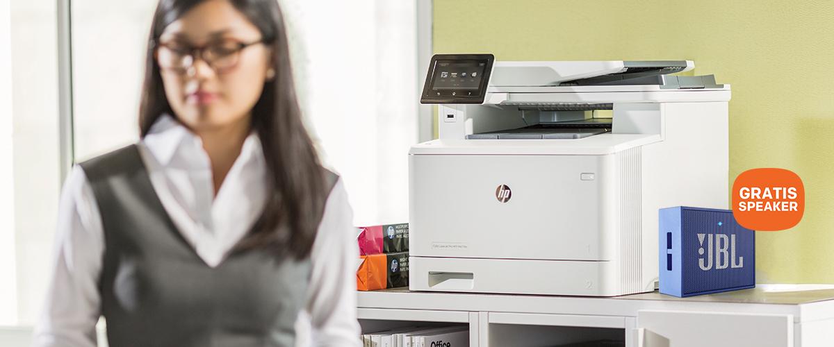 Mooie draadloze JBL GO speaker t.w.v. 29,- bij een HP printer