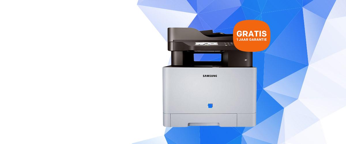 GRATIS 1 jaar extra garantie bij de Samsung Smart ProXpress