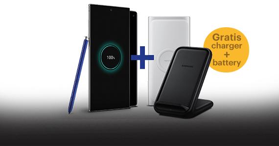 Gratis Wireless Charger en Battery Pack bij aankoop van Samsung Galaxy S10, S10+, Note10 en Note10+