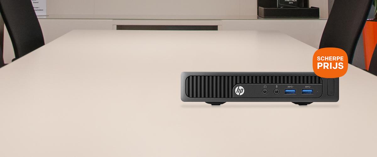 Compacte HP mini desktop sterke performance & scherpe prijs