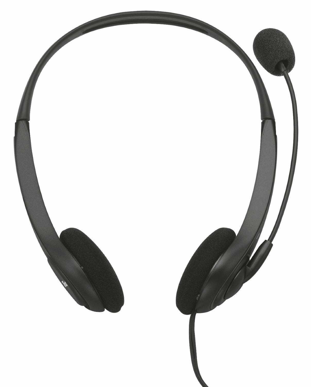 Trust 70-20000Hz, 108dB, 32Ohm, 30-16 000Hz, -34dB, 2 2kOhm, 1 8m, 60g  headset - Zwart