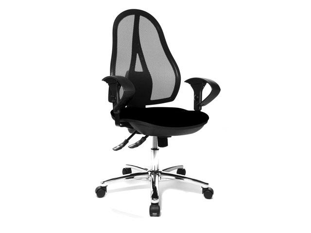 topstar stoel bureaustoel open point syncro zwart. Black Bedroom Furniture Sets. Home Design Ideas