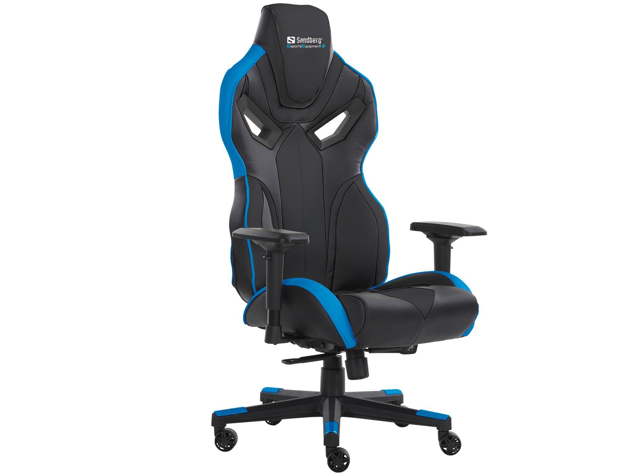 Sandberg voodoo gaming chair black blue kopen u online