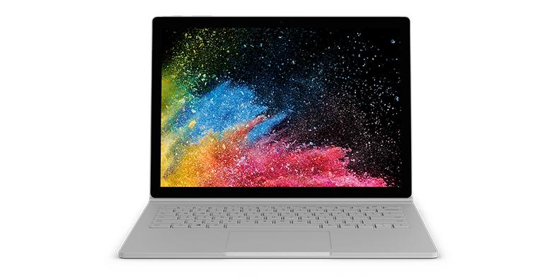 Microsoft Surface Book 2 Qwerty Laptop Zilver
