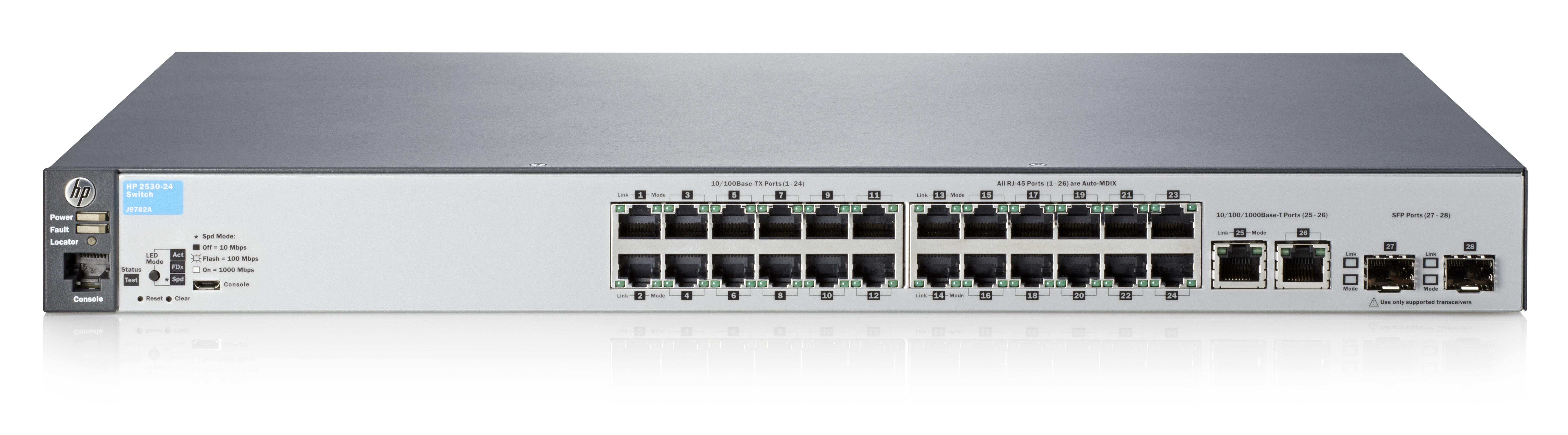 Hewlett Packard Enterprise switch Aruba 2530-24 J9782A#ABB ...