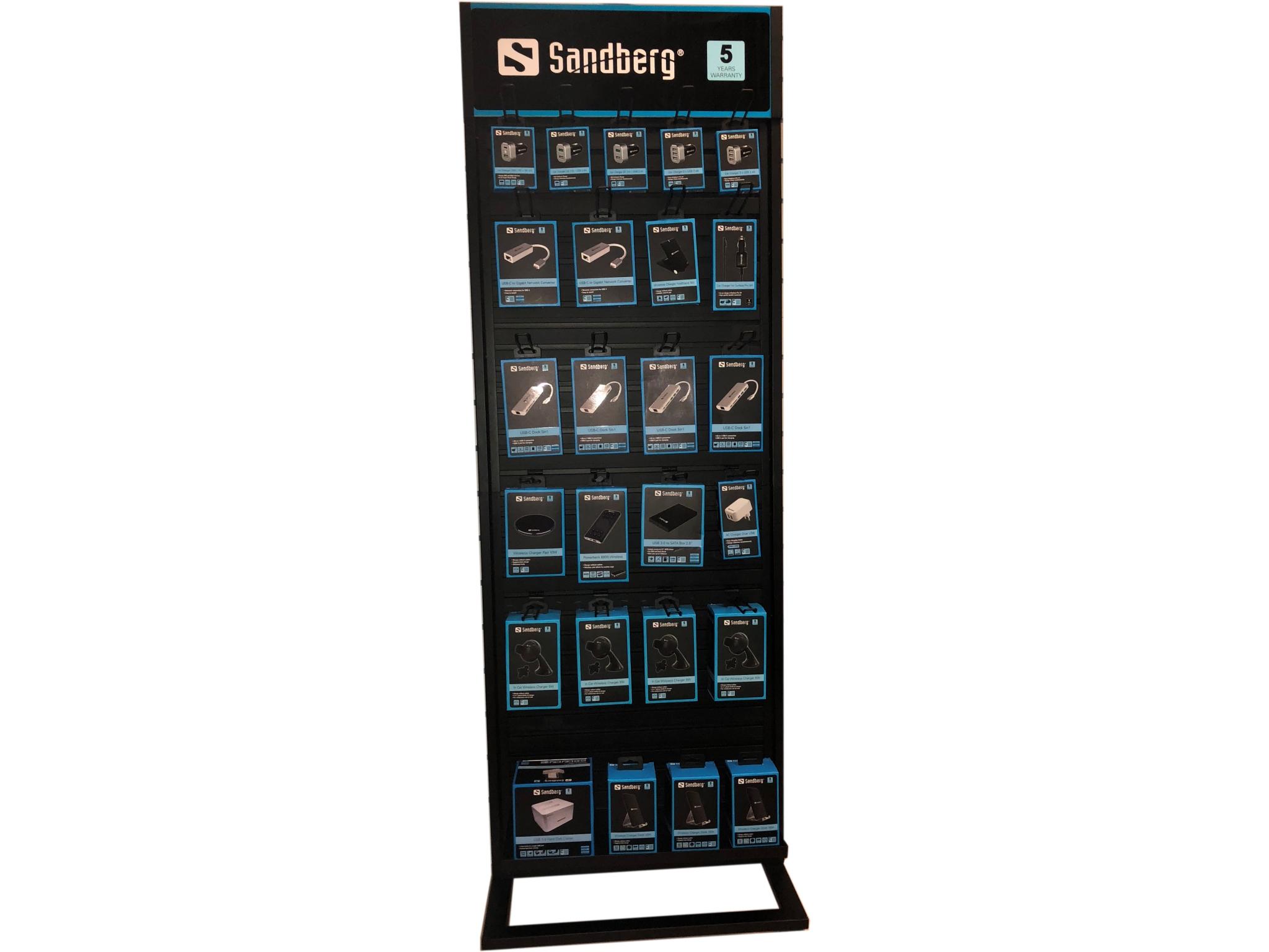 Sandberg Alu Slatwall Display 2 Sided 999 50 Kopen Online