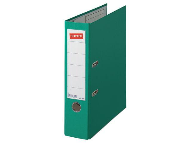 staples ringband ordner spls a4 80mm premium groen 5289315 kopen online bestellen geen. Black Bedroom Furniture Sets. Home Design Ideas