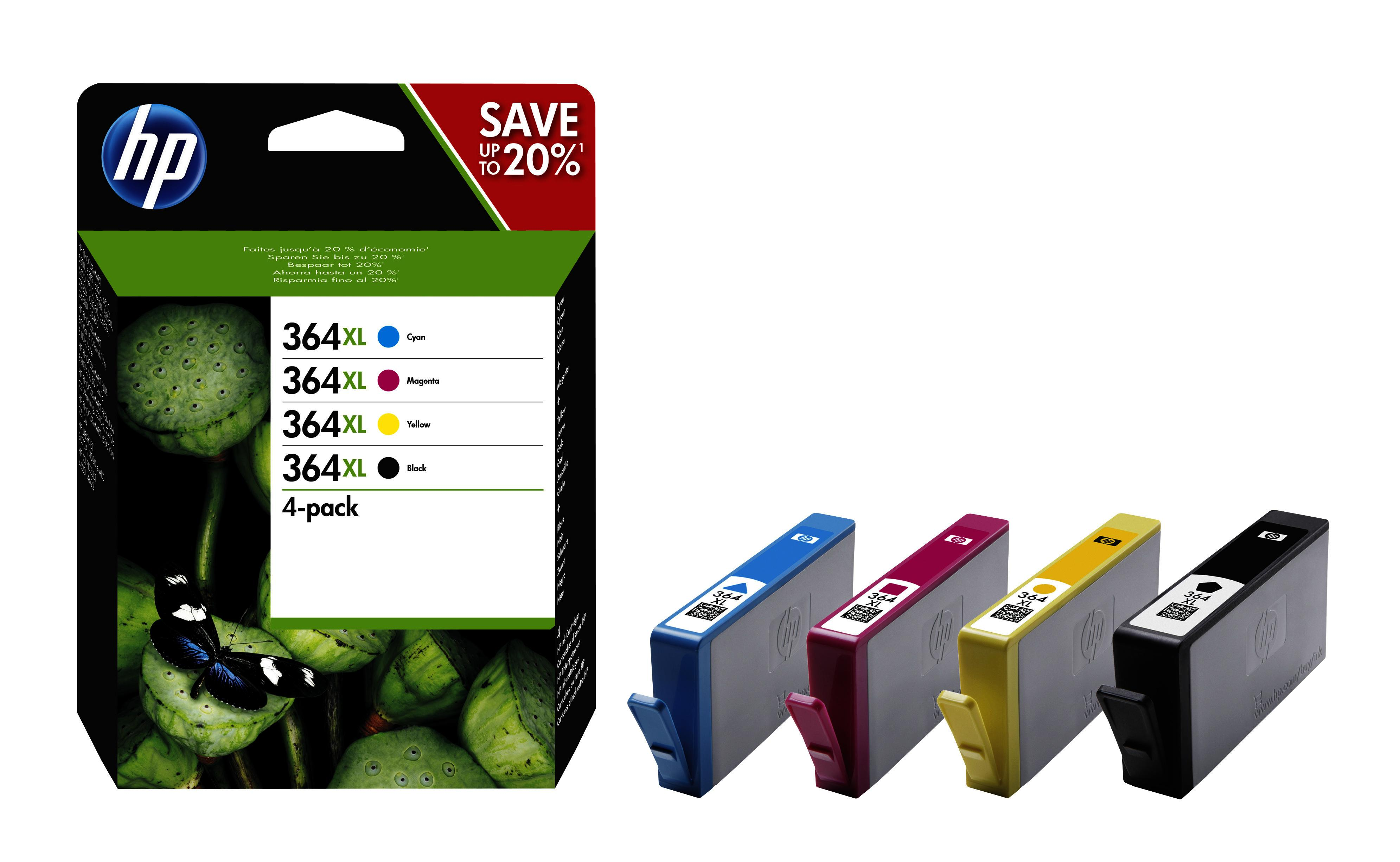 hp inktcartridge 364xl 4 pack kleur voor o a photosmart. Black Bedroom Furniture Sets. Home Design Ideas