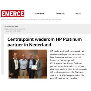 Centralpoint wederom HP Platinum partner in Nederland - Emerce