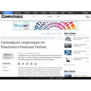 Centralpoint uitgeroepen tot Plantronics Premium Partner | Computable.nl