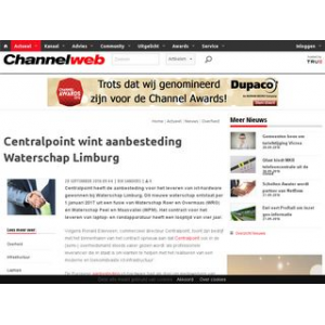 Centralpoint wint aanbesteding Waterschap Limburg | Channelweb.nl