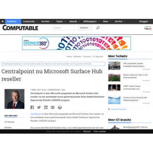 Centralpoint nu Microsoft Surface Hub reseller | Computable.nl