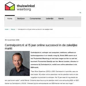 Centralpoint.nl: al 15 jaar online succesvol in de zakelijke markt