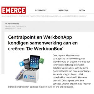 Centralpoint en WerkbonApp kondigen samenwerking aan en creëren 'De WerkbonBox'
