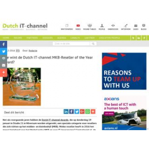 Wie wint de Dutch IT-channel MKB-Reseller of the Year Award?