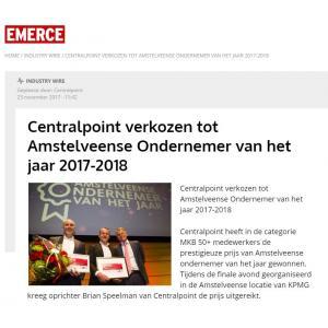 Centralpoint verkozen tot Amstelveense Ondernemer van het jaar 2017-2018