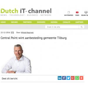Centralpoint wint aanbesteding gemeente Tilburg