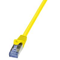 LogiLink netwerkkabel: 0.5m Cat.6A 10G S/FTP - Geel