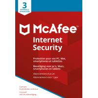McAfee algemene utilitie: Internet Security 2018, 3 Devices (Dutch / French)