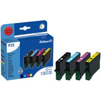 Pelikan inktcartridge: P25 - Zwart, Cyaan, Magenta, Geel