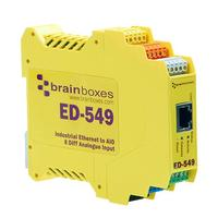 Brainboxes gateway: Ethernet to 8 Analogue Inputs + RS485 Gateway