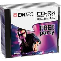 Emtec CD: CD-RW, 700MB, 5pcs.