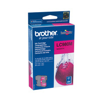 Brother inktcartridge: LC-980M Inktcartridge magenta