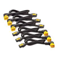 APC electriciteitssnoer: C13 - C14 (90 Deg), 1.8m, 6-pack