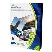 MediaRange fotopapier: DIN A4 Photo Paper for inkjet printers, matte-coated, 130g, 100 sheets - Wit
