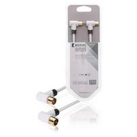 König coax kabel: KNS40020W10 - Wit