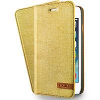Azuri mobile phone case: Wallet cover voor Apple iPhone 5/5S/SE, geel